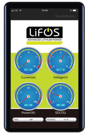 Lifos App Display
